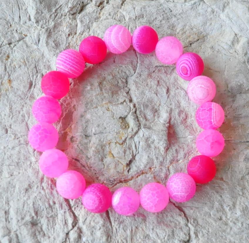 cee497860fe44 Achát ružový frost náramok   Malachitová skrinka liečivé kamene