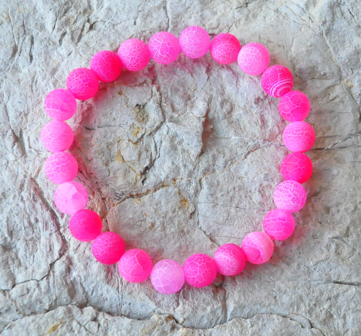 1421a08bf3725 Achát ružový náramok   Malachitová skrinka liečivé kamene